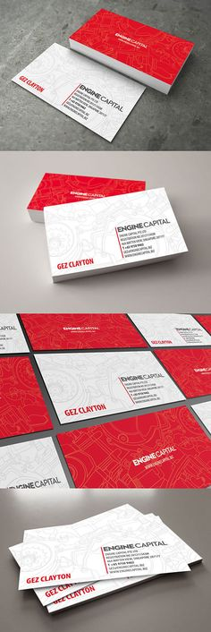26 Ideas Business Cars Design Red Ideas For 2019 Name Card Design, Bussiness Card, Calling Cards, Modern Business Cards, Stationery Design, Name Cards, Design Cars, Business Card Design, Card Templates