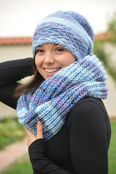 efb9d0b3b knitting dámske pletené čiapky · Dívčí, dámská pletená čepice, nákrčník a  čelenka. Materiál moc příjemný, měkoučký,