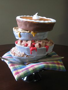 Lots of Pies Birthday Cake by CakeArtNC, via Flickr