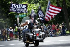 Donald Trump is backed by an ultra-nationalist biker gang, just like Vladimir Putin - The Washington Post