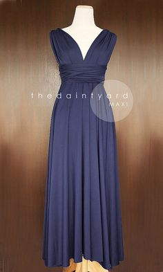 MAXI Midnight Blue Bridesmaid Dress Convertible Dress Infinity Dress Multiway Dress Wrap Dress Transformer Dress Full Length Dress Cocktail