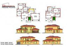To Be Build at at Ga-Marishane (Limpopo) 5 Bedroom House Plans, Free House Plans, Family House Plans, Country House Plans, Modern Bungalow House Plans, Single Storey House Plans, House Plans South Africa, Affordable House Plans, Beautiful House Plans