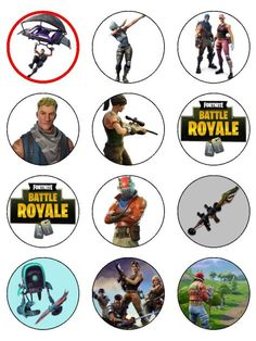 Fortnite Battle Royale Stand Ups - Topcake Ireland 10th Birthday Parties, Birthday Party Games, 12th Birthday, Boy Birthday, Free Birthday, Birthday Ideas, Party Printables, Free Printables, Printable Labels