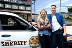 Emma & Charming. I love that they had this up on the wall in the Sheriff Station