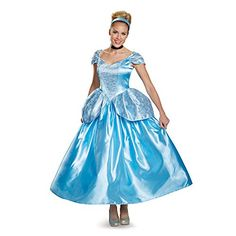 Disguise Women's Cinderella Prestige Adult Costume, Blue, X-Large Disguise Costumes