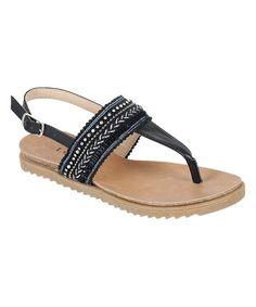Black Tori Sandal