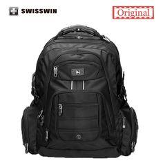 42.75$  Buy here - http://alifou.worldwells.pw/go.php?t=32669637742 - Swisswin Swissgear 15.6 inch Men's Laptop Backpack Nylon Backpack Business Travel Large Capacity Bagpack mochilas masculina
