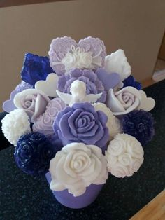 Decorative Soaps, Soap Making, Centerpieces, My Etsy Shop, Bouquet, Carving, Candles, Flowers, How To Make