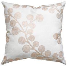 "Spiral Branch,  Gold Cream 16""x16"" Decorative Throw pillow $43.95 per pillow #toniclivingdreamroom #homedecor"