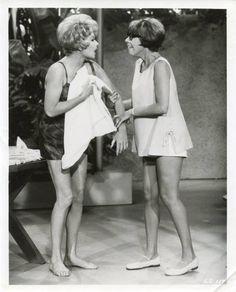 Carol Burnett, right