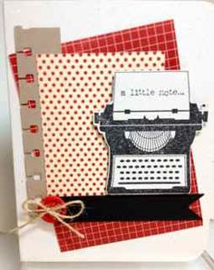 A Little Note by Janeyrocket - Cards and Paper Crafts at Splitcoaststampers