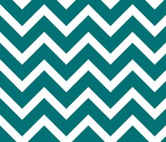 large teal chevron fabric by amybethunephotography on Spoonflower - custom fabric