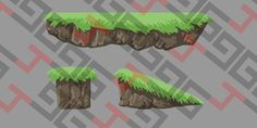 Grass platform: 1024x512 png and .svg files. 3 different shapes.