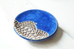Royal Blue Soap Dish Ceramic Soap Dish Ceramic Dish by bemika, $16.00