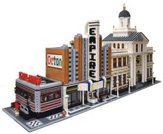 Gorgeous signs and colors make this town layout stand out.