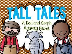 This will go great with my tall tale unit! Tall Tales Activities, Language Activities, Reading Activities, First Grade, Second Grade, Fourth Grade Writing, Bar Graphs, Recording Sheets, Education English
