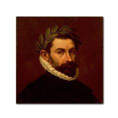 Trademark Fine Art 'Portrait Of The Poet Alonso Zuniga' Canvas Art by El Greco, Red