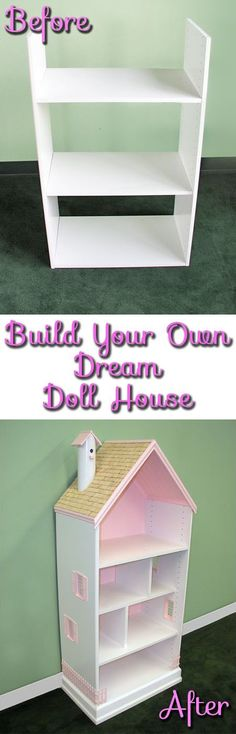 #DIY Dream Doll House! What little girl wouldn't just swoon over this?! #crafts