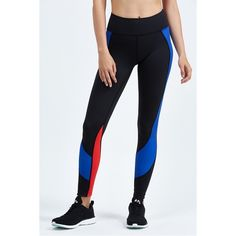 Vie Active Whitney 7/8 Legging ($94) ❤ liked on Polyvore featuring activewear, activewear pants, athletic wear, black and leggings