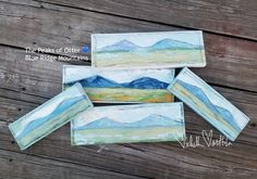 Nuturing my passion for painting with my love of these mountains!💙 Available at my gallery wall at soon! Bedford Va, White Brick Houses, Blue Ridge Mountains, Happy Heart, Otters, My Passion, Virginia, Gallery Wall, Photo And Video