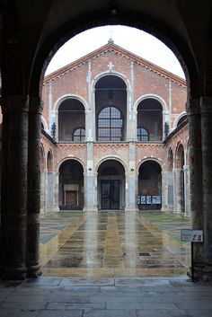San Ambrogio, Milan, Italy Romanesque Architecture, Visit Italy, Milan Italy, Place Of Worship, Cathedrals, Middle Earth, Roots, Around The Worlds, Europe