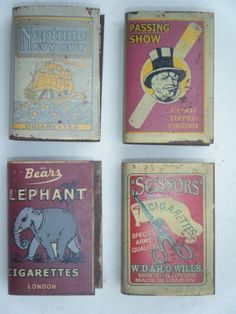 Old Tin Match Box Holder Lot, Vintage Collectible Match Holder Lot of 4 #908
