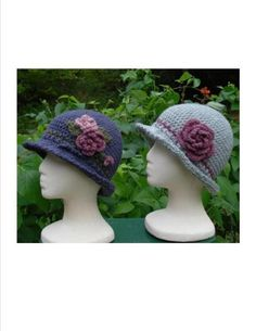 Brimmed Cloche – PA-104 – A crochet pattern from Nancy Brown-Designer. These close fitting hats feature a small brim with a classic edging. Just for fun, make one and embellish it with a cluster of flowers, leaves and berries. For understated sophistication, make another and add a cabbage rose to adorn the side with a matching band to tie it all together. This pattern PDF can be purchased at my Craftsy Pattern Store for $3.99, just click on the photo.