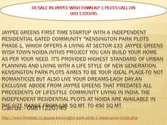 9811220745resale jaypee wishtown plots