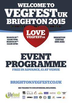#VegFestUK, #Brighton, #UK 28-29 March http://brighton.vegfest.co.uk