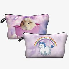 OJIA New Women's Girls Cute Guinea Pig Clouds and My Little Unicorn Print Travel Cosmetic Makeup Bag Multifunction Storage Pouch Case-Set of 2 Ojia http://www.amazon.com/dp/B01CA4GW78/ref=cm_sw_r_pi_dp_uoudxb10G7X82