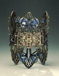Lalique thistle bracelet in silver and gold with enamel - Google Search