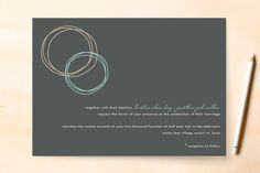 Circles Wedding Invitations by chica design at minted.com