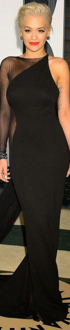 Rita Ora 2015 Vanity Fair Oscar Party / Rita Ora in Donna Karan