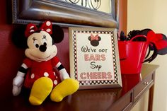 Get your ears at a Minnie Mouse birthday party! See more party planning ideas at CatchMyParty.com!