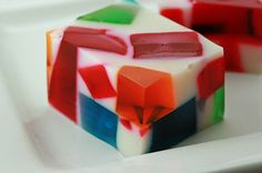 This jello reminds me of stained glass windows!