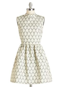 As of Tessellate Dress. You look so unique in the fit-together diamonds patterned upon this black-and-ivory dress that without you the night would feel incomplete! #cream #modcloth