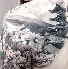 Image result for pagoda bamboo tattoo