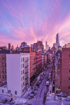 Sunset over SoHo, NYC by nadocollin