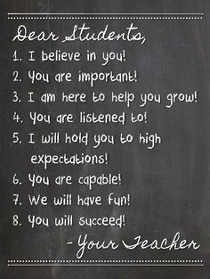 Meet the teacher quotes for chalk board школьные идеи, учите Classroom Rules Poster, Teacher Posters, Quotes For The Classroom, Inspirational Classroom Posters, Inspirational Message For Students, Teacher Appreciation Quotes, Dear Students, Teaching Quotes, Kunst Poster