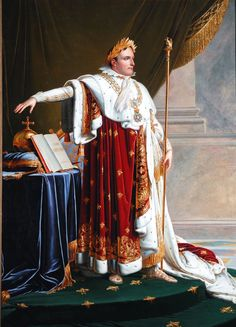 Portrait of Napoleon Bonaparte oil painting by Anne-Louis Girodet de Roucy-Triosson, The highest quality oil painting reproductions and great customer service! French History, Art History, Modern History, European History, Napoleon Painting, First French Empire, Napoleon Josephine, Empress Josephine, Napoleon
