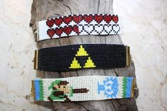 video game zelda bead loom bracelet