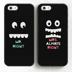 Find More Phone Bags & Cases Information about Set of 2 Mr and Mrs Always…