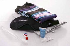 Air New Zealand's business class in-flight kit may be modest but the colourful socks are a hit with travellers.