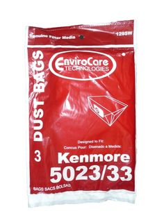 12 Kenmore Sears Allergy Vacuum Bag Canister Vacuum Cleaners 5023-5033 Bag Ch...