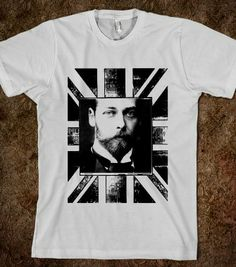 King George V - TERRA-THIS IS PLANET EARTH TOO - Skreened T-shirts, Organic Shirts, Hoodies, Kids Tees, Baby One-Pieces and Tote Bags
