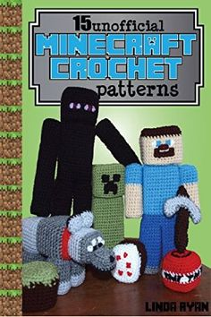 Free Kindle Book - [Humor & Entertainment][Free] Minecraft Crochet Patterns: 15 Unofficial Projects to Bring Minecraft to Life! Crochet Gifts, Crochet Toys, Crochet Baby, Free Crochet, Minecraft Crochet Patterns, Minecraft Pattern, Minecraft Knitting, Minecraft Bag, Cardboard Box Crafts