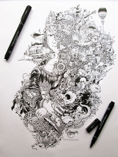Impressively Detailed Pen Doodles By Kerby Rosanes   Bored Panda