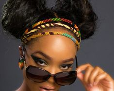 Kente Headband African Hair Accessories by ETurnerCouture on Etsy