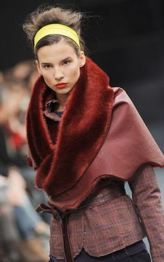 A model walks the runway during the Manila Grace Autumn/Winter 2012 2013 Fashion Show on February 8, 2012 in Milan, Italy.
