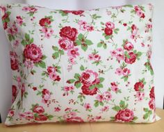Say it with, everlasting Roses, Irish Hand sewn Cushion, 18x18 email us at  thecraftyshamrock@gmail.com Bed Pillows, Cushions, Hand Sewn, Irish, Unique Gifts, Roses, Sewing, Crafts, Decor